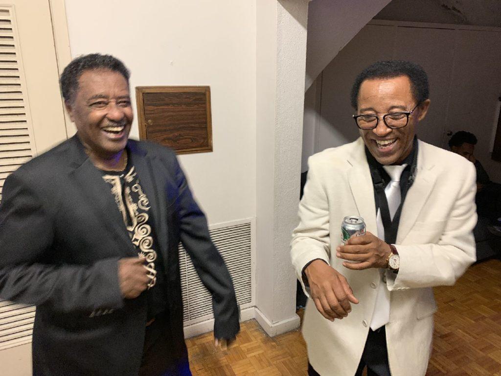 With the legendary Alemayehu Eshete